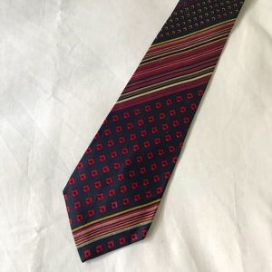 Yves Saint Laurent Men's Silk Tie Stripes Office
